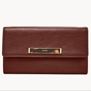 🆕 NWT Fossil Blake Leather Wallet